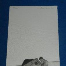 Arte: (MF) XILOGRAFIA ESCENA TAUROMAQUIA ( TOROS ) FIRMADA ALBERTO MARTINEZ ( BURGOS ) NUMERADA 52/75. Lote 129541191