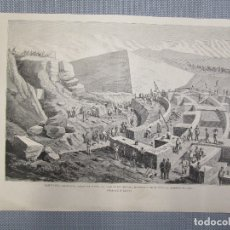 Arte: PAMPLONA CERRO SAN CRISTOBAL - XILOGRAFIA DE LA ILUSTRACION ESPAÑOLA Y AMERICANA. ABRIL 1883+ INFO.. Lote 130607062