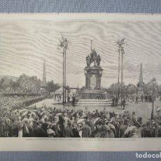Arte: MADRID INAUGURACION MONUME. - XILOGRAFIA DE LA ILUSTRACION ESPAÑOLA Y AMERICANA . ABRIL 1883.+ INFO.. Lote 130640174