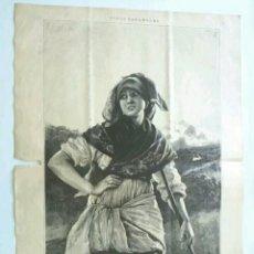 Arte: XILOGRAFÍA TIPOS ESPAÑOLES ALDEANA ASTURIANA 1885. Lote 131678345