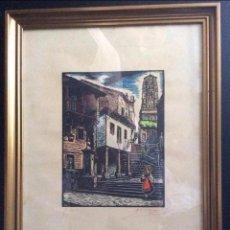 Arte: GALICIA -XILOGRAFIA- DEL GRABADOR – JOAN CASTELLS I MARTÍ (1906 – 1980), . Lote 132909542