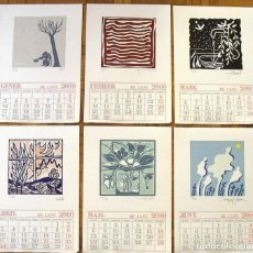 Arte: CALENDARIO 2000 ILUSTRADO ARTISTAS 12 LINÓLEOS: CESC, HERNÁNDEZ PIJUAN, SUBIRACHS, CURÓS, TODÓ, DIVÍ. Lote 133194622