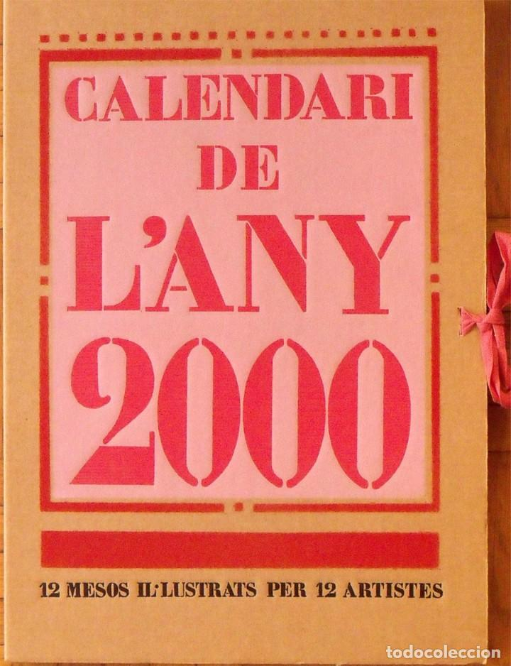 Arte: Calendario 2000 ilustrado artistas 12 linóleos: Cesc, Hernández PIjuan, Subirachs, Curós, Todó, Diví - Foto 3 - 133194622