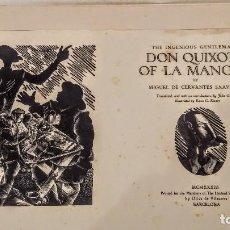 Arte: XILOGRAFÍA DE E. C. RICART FRONTISPICIO DE DON QUIXOTE OF LA MANCHA THE LIMITED EDITIONS DE N.YORK. Lote 120284135