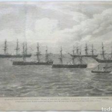 Arte: GRABADO XILOGRAFICO MARINA ESPAÑOLA DE GUERRA 1885. Lote 134352819