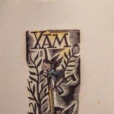 Arte: TARJETA DE PEDRO QUETGLAS/XAM EN 1948. CON XILOGRAFÍA FIRMADA. NUEVA DIRECCIÓN EN MALLORCA. Lote 135041534