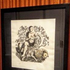 Arte: EXTRAORDINARIA XILOGRAFÍA DE E. C. RICART. ORFEU/ORFEO. FIRMADA NUMERADO. Lote 133398486