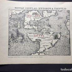 Arte: NOVAE INSULAE, XVII NOVA TABULA. SEBASTIAN MÜNSTER. 35X25CM. Lote 136255210