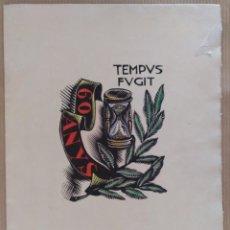 Arte: XILOGRAFIA ANTONI GELABERT PAPEL DE HILO MARCA GUARRO TEMPUS FUGIT 1961. Lote 136367722