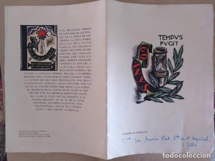 Arte: XILOGRAFIA ANTONI GELABERT PAPEL DE HILO MARCA GUARRO TEMPUS FUGIT 1961 - Foto 4 - 136367722