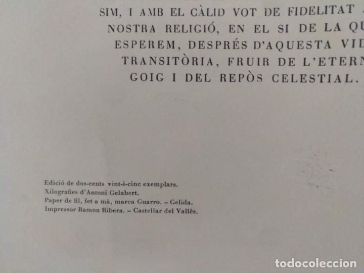 Arte: XILOGRAFIA ANTONI GELABERT PAPEL DE HILO MARCA GUARRO TEMPUS FUGIT 1961 - Foto 5 - 136367722