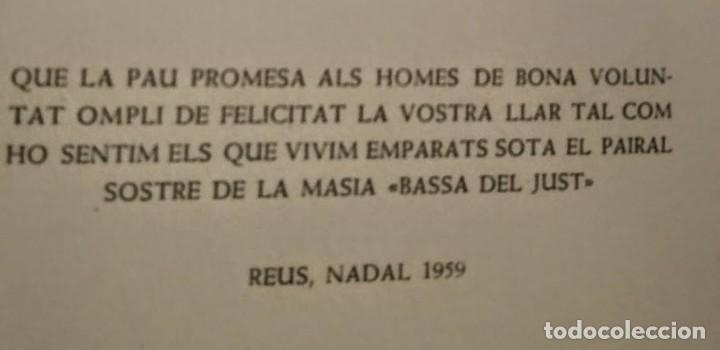 Arte: Xilografía de Enric C Ricart para nadala 1939.Masia Bassa del Just. Editor Torrell de Reus - Foto 2 - 139483038