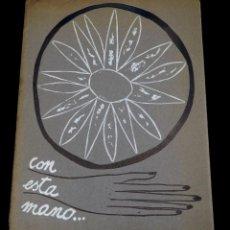 Arte: LUIS DE HORNA. CON ESTA MANO. CARPETA DE 8 XILOGRAFIAS. EJEMPLAR 56/75. AÑO 1963. Lote 139826106
