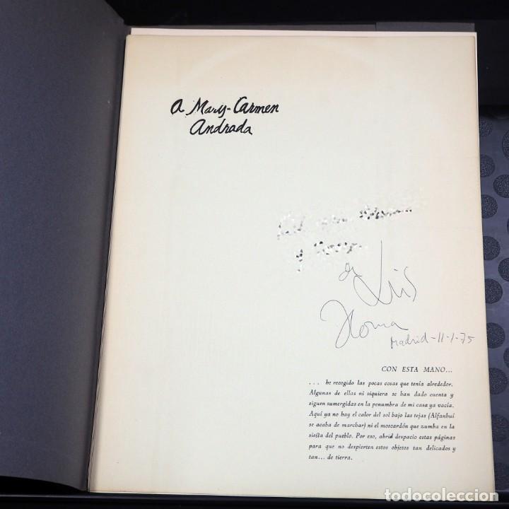 Arte: LUIS DE HORNA. CON ESTA MANO. CARPETA DE 8 XILOGRAFIAS. Ejemplar 56/75. Año 1963 - Foto 2 - 139826106