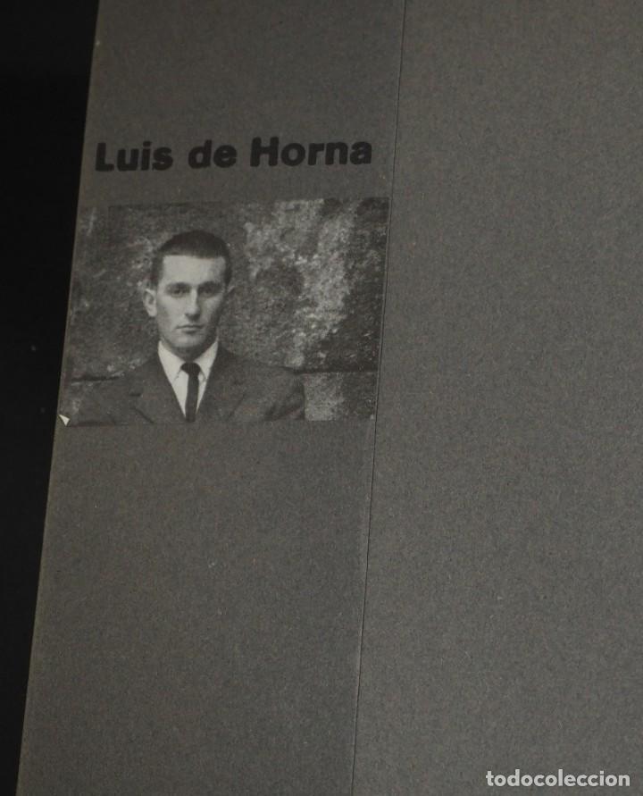 Arte: LUIS DE HORNA. CON ESTA MANO. CARPETA DE 8 XILOGRAFIAS. Ejemplar 56/75. Año 1963 - Foto 3 - 139826106