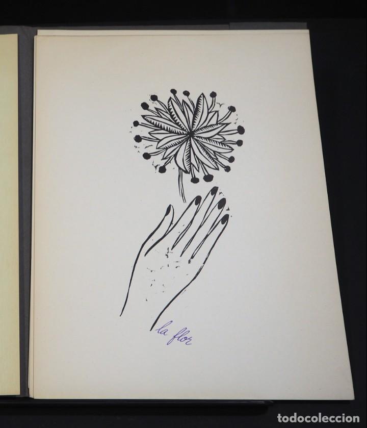 Arte: LUIS DE HORNA. CON ESTA MANO. CARPETA DE 8 XILOGRAFIAS. Ejemplar 56/75. Año 1963 - Foto 4 - 139826106