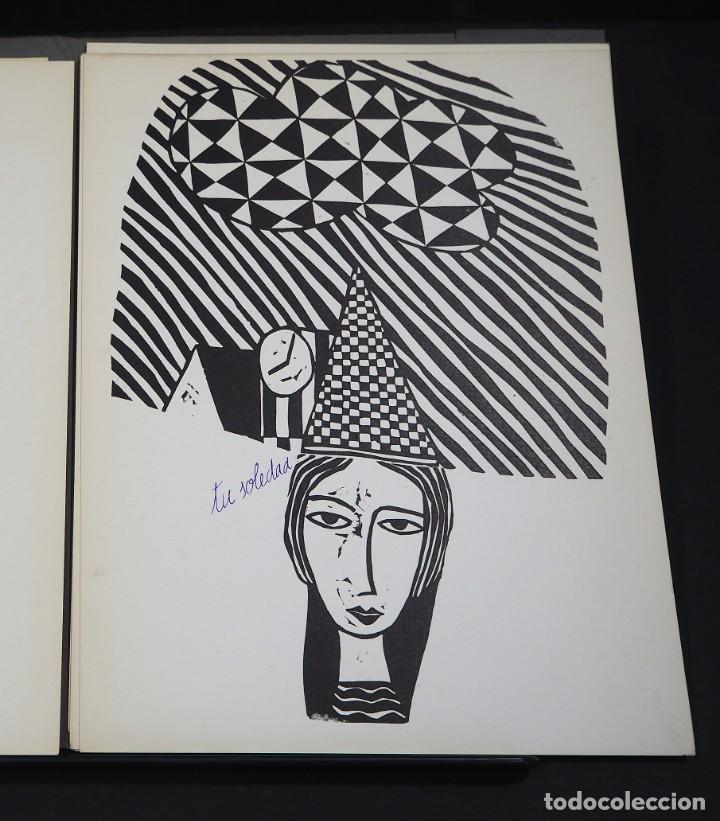 Arte: LUIS DE HORNA. CON ESTA MANO. CARPETA DE 8 XILOGRAFIAS. Ejemplar 56/75. Año 1963 - Foto 5 - 139826106