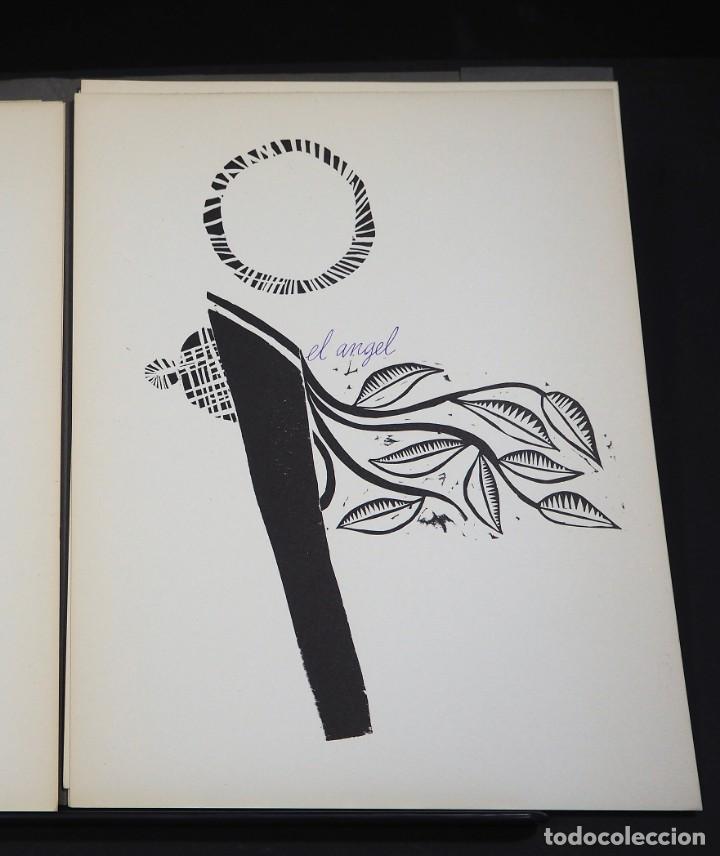 Arte: LUIS DE HORNA. CON ESTA MANO. CARPETA DE 8 XILOGRAFIAS. Ejemplar 56/75. Año 1963 - Foto 7 - 139826106