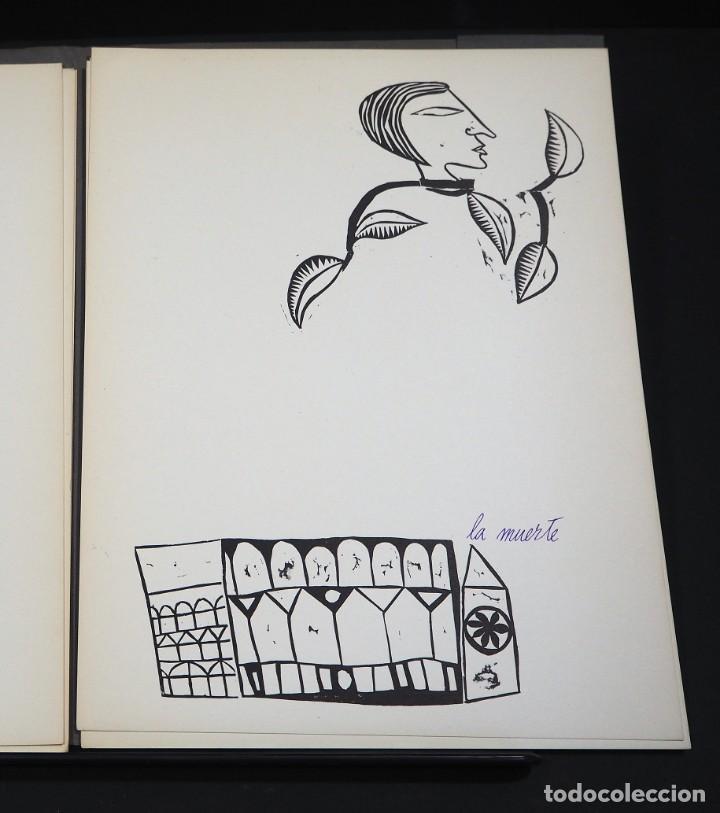 Arte: LUIS DE HORNA. CON ESTA MANO. CARPETA DE 8 XILOGRAFIAS. Ejemplar 56/75. Año 1963 - Foto 8 - 139826106