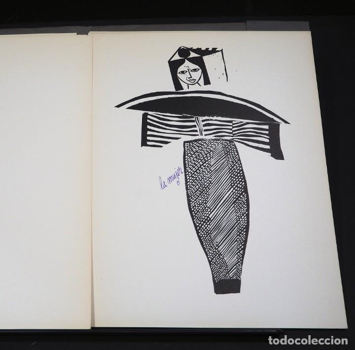 Arte: LUIS DE HORNA. CON ESTA MANO. CARPETA DE 8 XILOGRAFIAS. Ejemplar 56/75. Año 1963 - Foto 9 - 139826106