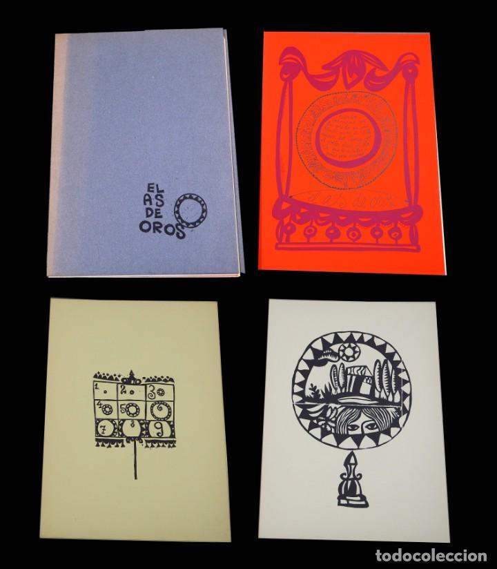 LUIS DE HORNA. EL AS DE OROS. CARPETA CON 11 XILOGRAFÍAS. EDICIÓN DE 100 EJEMPLARES (Arte - Xilografía)