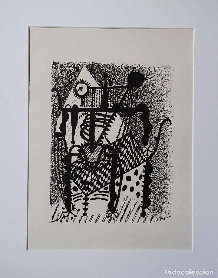 PABLO PICASSO, HELENE CHEZ ARCHIMEDE, XILOGRAFÍA DE 1955, 240 EJEMPLARES (Arte - Xilografía)