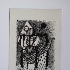 Arte: PABLO PICASSO, HELENE CHEZ ARCHIMEDE, XILOGRAFÍA DE 1955, 240 EJEMPLARES. Lote 140536026