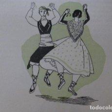 Arte: ARAGON LA JOTA XILOGRAFIA AÑOS 40. Lote 140804870