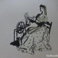 Arte: CATALUÑA HILANDERA XILOGRAFIA AÑOS 40. Lote 140804902