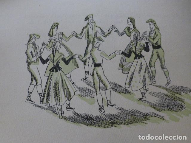 CATALUÑA SARDANA XILOGRAFIA AÑOS 40 (Arte - Xilografía)