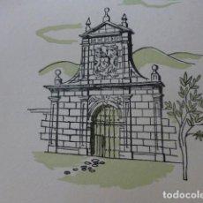 Arte: CANTABRIA PORTALADA MONTAÑESA XILOGRAFIA AÑOS 40. Lote 140805018