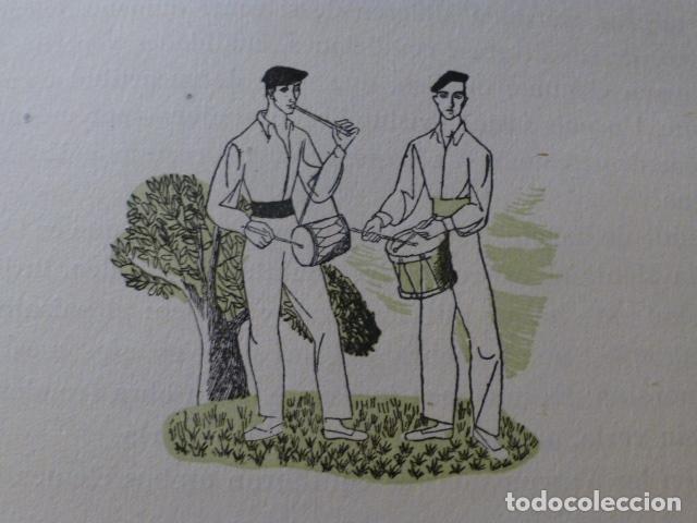 PAIS VASCO TXITULARIS XILOGRAFIA AÑOS 40 (Arte - Xilografía)