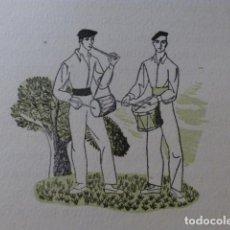 Arte: PAIS VASCO TXITULARIS XILOGRAFIA AÑOS 40. Lote 140805034
