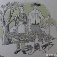 Arte: LAGARTERA TOLEDO XILOGRAFIA AÑOS 40. Lote 140805158