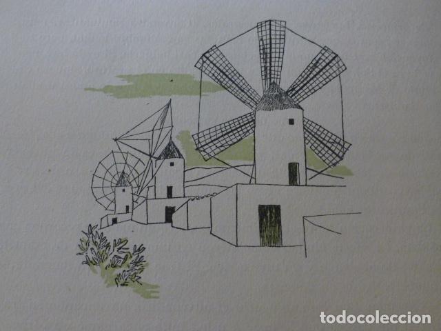 PALMA DE MALLORCA MOLINOS XILOGRAFIA AÑOS 40 (Arte - Xilografía)