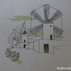 Arte: PALMA DE MALLORCA MOLINOS XILOGRAFIA AÑOS 40. Lote 140805234