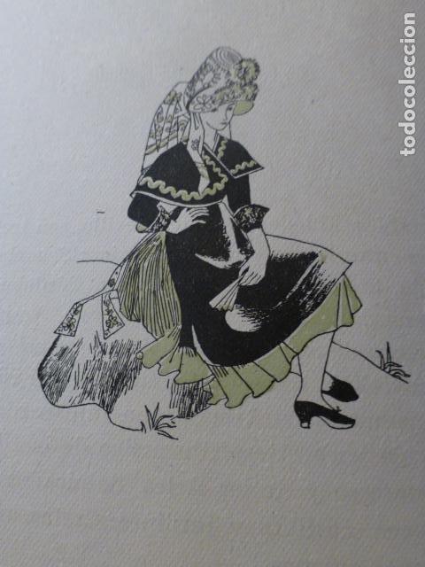 MONTEHERMOSO CACERES MUJER MONTEHERMOSEÑA XILOGRAFIA AÑOS 40 (Arte - Xilografía)