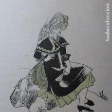 Arte: MONTEHERMOSO CACERES MUJER MONTEHERMOSEÑA XILOGRAFIA AÑOS 40. Lote 140805250