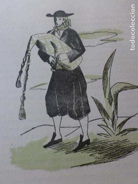 MALLORCA GAITERO MALLORQUIN XILOGRAFIA AÑOS 40 (Arte - Xilografía)