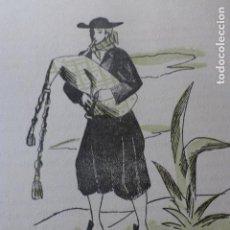 Arte: MALLORCA GAITERO MALLORQUIN XILOGRAFIA AÑOS 40. Lote 140805346