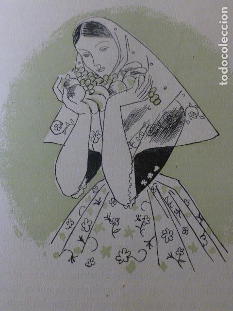 MALLORCA MUJER MALLORQUINA XILOGRAFIA AÑOS 40 (Arte - Xilografía)