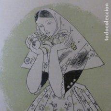 Arte: MALLORCA MUJER MALLORQUINA XILOGRAFIA AÑOS 40. Lote 140805362