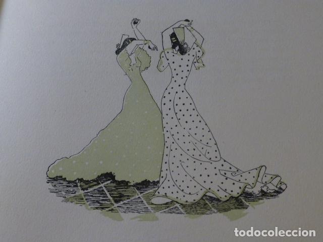 ANDALUCIA BAILE XILOGRAFIA AÑOS 40 (Arte - Xilografía)