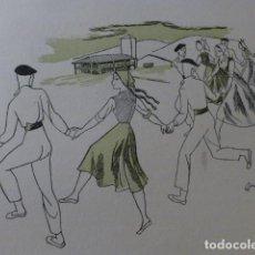Arte: PAIS VASCO DANZA XILOGRAFIA AÑOS 40. Lote 140805558