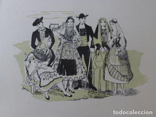 SALAMANCA CANARIAS TOLEDO TIPOS ESPAÑOLES XILOGRAFIA AÑOS 40 (Arte - Xilografía)