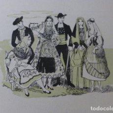 Arte: SALAMANCA CANARIAS TOLEDO TIPOS ESPAÑOLES XILOGRAFIA AÑOS 40. Lote 140805702