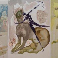 Arte: SALVADOR DALÍ: LA DIVINA COMEDIA, 3 XILOGRAFÍAS DE 1960. Lote 141714894