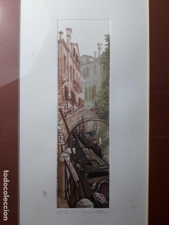 Arte: Xilografia Venecia serie 17 de 80 firmada. - Foto 2 - 142442290