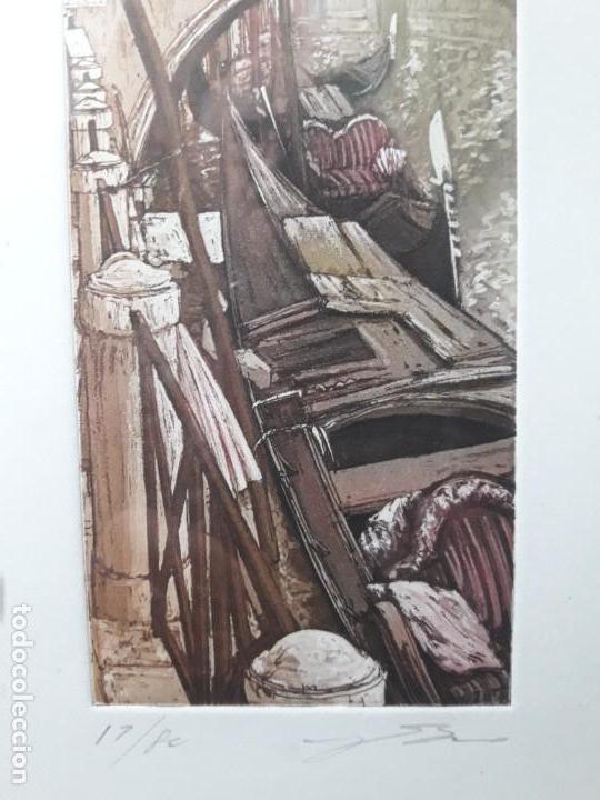 Arte: Xilografia Venecia serie 17 de 80 firmada. - Foto 3 - 142442290
