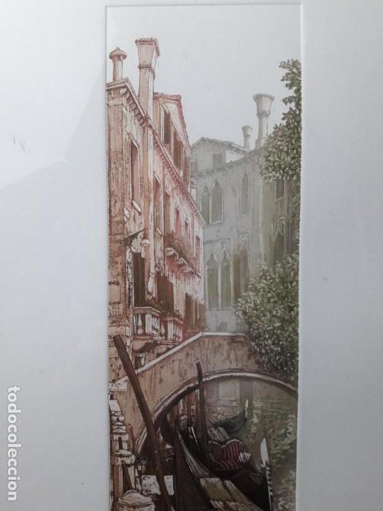 Arte: Xilografia Venecia serie 17 de 80 firmada. - Foto 4 - 142442290